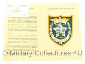 US Police embleem met document en visitekaartje - Sherrif's Office Manatee - origineel