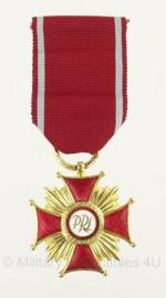 Poolse leger gouden servicemedaille met doosje - origineel