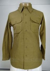 M37 M1937 shirt / blouse wool - wool en met gasflap