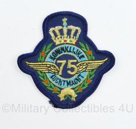 KLU Luchtmacht 75 jaar embleem - zeldzaam - 8 x 8 cm - origineel