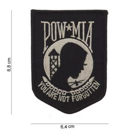 Embleem stof POW MIA You are not forgotten 8,8 x 6,4 cm.