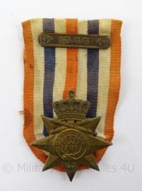 KL Landmacht medaille Ereteken voor Orde en Vrede - mooi opgemaakt met 1946 balk - afmeting 5 x 8 cm - origineel