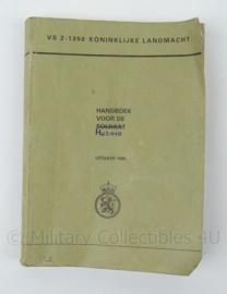 KL Landmacht Handboek voor de Huzaar 1985 - VS2-1350 - afmeting 20 x 14 cm - origineel