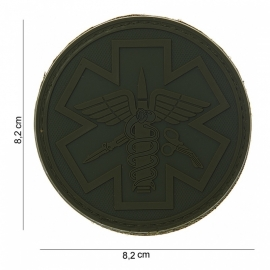 Embleem 3D PVC Para Medic - groen - Klittenband - 8,2 cm diameter