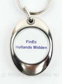 Sleutelhanger Politie Hollands Midden FINEC - 7,5 x 3,5 cm - origineel