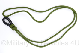 Defensie groen pistoolkoord - nieuw - 96 x 1 x 3 cm - origineel