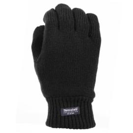 Handschoenen met warme Thinsulate voering - Zwart