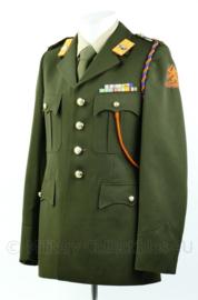 KL DT jas met overhemd 1980 Prinses Irene brigade, 13e gemechaniseerde brigade met onderscheidingen - Maat  47 3/4 - Origineel