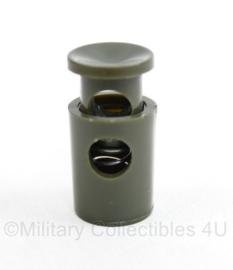 Defensie groene Tanka koordstopper - 3 x 1,5 cm - origineel