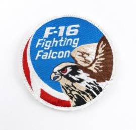 Deense Luchtmacht embleem F16 Fighting Falcon  - met klittenband - diameter 10 cm - origineel