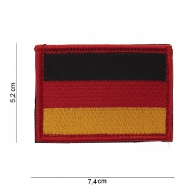 Uniform landsvlag Duitsland stof - met klittenband - 5,2 x 7,4 cm