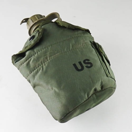 US LC2 LC-2 canteen veldfles met hoes - met gasmasker aansluiting !  - origineel