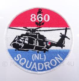 "KM Koninklijke Marine ""860 squadron"" embleem - met klittenband - diameter 10 cm"