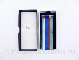 Defensie medaille doos met lint en baton voor VN Mali Medaille - 12,5 x 5,5 x 1,5 cm - origineel