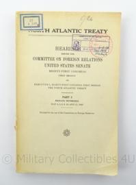 MVO boekje North Atlantic Treaty 1949 - met stempel Chef Generale Staf - afmeting 15 x 23 cm - origineel