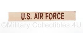 USAF US Air Force naamlint voor Desert BDU - 19,5 x 3 cm - origineel