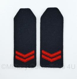 Korps Mariniers Sergeant epauletten - 13 x 5 cm - origineel