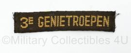 MVO straatnaam enkel 3e Genietroepen - 10 x 2 cm - origineel