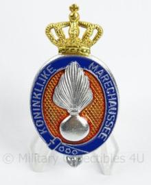 KMAR Marechaussee pet insigne - afmeting 3 x 6 cm - origineel