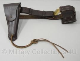 US M1912 Cavalry koppel met magazijntas en Colt holster - bruin leer