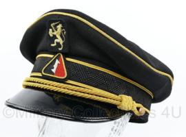 Nederlandse WA  Weerbaarheidsafdeling HOGERE RANGEN zwarte schirmmütze met rode bies -  maat 58 of 60