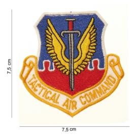 Embleem stof US Tactical Air command 7,5 x 7,5 cm.