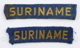 KL suriname staatnaam set  - 1952/1962 - origineel