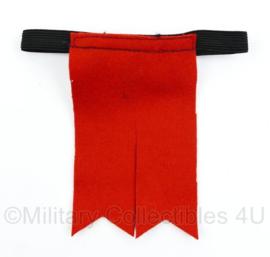 ROYAL REGIMENT OF SCOTLAND SCARLET garter flashes (1 kant) - origineel
