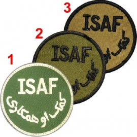 ISAF patch Afghanistan -  6 cm. diameter