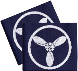 PAIR Royal Air Force Blue Rank Slides/Epaulettes (Senior Aircraftman - Technician) - origineel