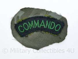 Britse Commando shoulder title van schouder geknipt - origineel