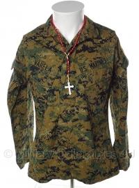US Marine Corps Marpat jas - Digital Woodland - 32 XS - met insignes en ketting - origineel