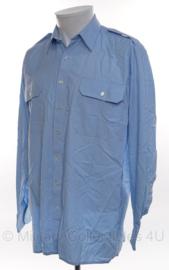 KMAR Koninklijke Marechaussee overhemd blauw - gebruikt - lange mouwen - meerdere maten - origineel