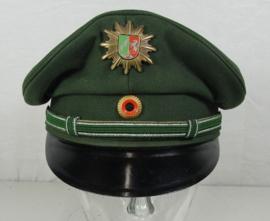 Duitse Politie platte pet Nordrhein-Westfalen - maat 57, 57,5 of 59 cm - origineel