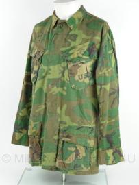 USMC Marine Corps Jungle Fatique uniform jasje - Vietnam oorlog - 3rd model ERDL POPLIN - gedateerd 1969 - zeldzaam - maat S/regular - origineel