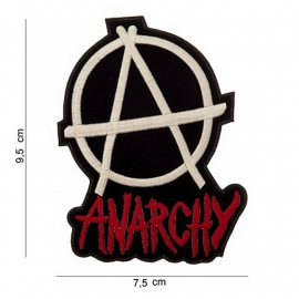 Anarchy embleem stof  - 9,5 x 7,5 cm.