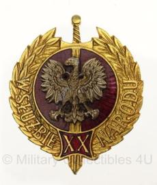 Poolse leger medaille 20 jaar in dienst van de natie - origineel