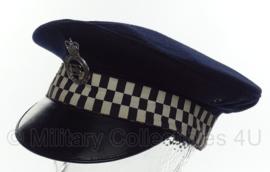 Britse metropolitan police pet met insigne - maat 56 of 59 cm.  - origineel