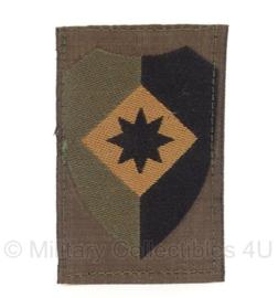 KL Nederlandse leger 1e legerkorps arm embleem 8 x 5,5 cm. - met klittenband - origineel
