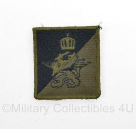 Defensie onbekend borst  embleem - met klittenband - 5 x 5 cm - origineel