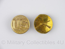 US Collar disc set Class A Infantry vroegoorlogs - origineel