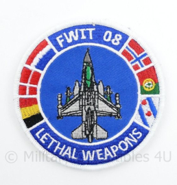 Luchtmacht embleem FWIT 08 Lethal Weapons  Weapons Instructor- met klittenband  - 9 cm. diameter