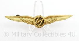Klu Luchtmacht wing boord telegrafist radio operator goudkleurig- vroeg model - 10 x 2 cm - origineel