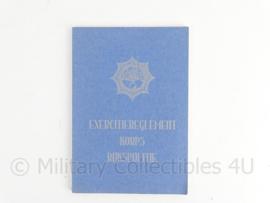 Korps Rijkspolitie handboek exercitiereglement - 15 x 21 cm - Topstaat - origineel