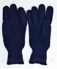Koninklijke Marine vintage jaren 50 blauwe wollen handschoenen - maat L - origineel