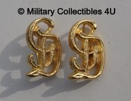 Schouderstukken cyphers Grossdeutschland  - zilver of goud - prijs per paar
