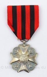 Belgische burgerlijke ereteken zilveren medaille  - origineel