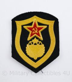 USSR Russische leger embleem  - Federale Wegenbouwafdeling onder de Federale Wegenwacht van Rusland - 8,5 x 6,5 cm - origineel