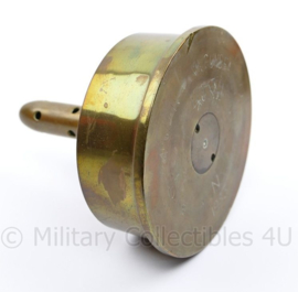 Britse WO2 1943 onderkant huls van 4 inch Gun Shell 4 inch M IV XII XIV guns FA -  13 x 15 x 13,5 cm - origineel
