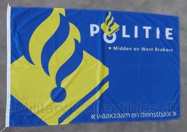 Politiebureau vlag Midden en West Brabant - waakzaam en dienstbaar - 146 x 93 cm - origineel